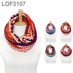 LOF3107 MULTI-PATTERNED KNIT NECK INFINITY