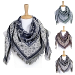 LOF336 SQUARE MULTI PATTERN SCARF