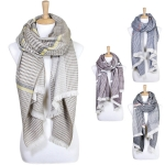 LOF339 Plaid Oblong Scarf