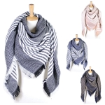 LOF365 STRIPED SQUARE SCARF