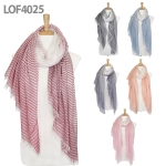 LOF4025 Thin to Bold Stripe Scarf