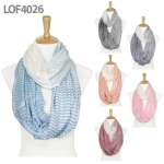 LOF4026 Striped Infinity Scarf