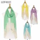 LOF4031 Pastel Solid With Lace Scarf