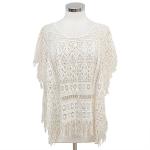 LOF451 Crochet Lace Top