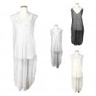 LOF453 SHEER MESH COVER UP DRESS