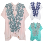 LOF463 Floral Embrodered Cover Up