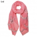 LOF492 Paisley Embroidered Oblong Scarf