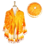 LOF497 ROUND ORANGE BEACH COVER UP/BEACH MAT