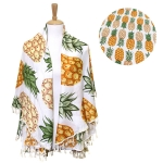 LOF498 ROUND PINEAPPLE BEACH COVER UP/BEACH MAT