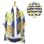 LOF499 ROUND PINEAPPLE BEACH COVER UP/BEACH MAT