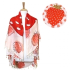LOF500 ROUND STRAWBERRY BEACH COVER UP/BEACH MAT