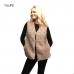 LOF540 Solid Faux Fur Vest