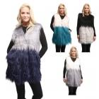 LOF550 Two Tone Faux Fur Vest