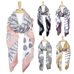 LOF611 Animal Print Oblong Scarf