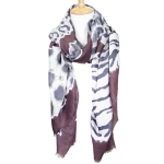 LOF611 Animal Print Oblong Scarf, Burgundy