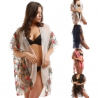 LOF723 Sheer Flower Cover Up