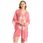 LOF725 Tie Dye Cover Up, Coral