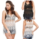 LOF733 Crochet Top W/Fringes