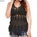 LOF733 Crochet Top W/Fringes