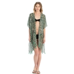 LOF815 Leopard Print Cover-up, Green