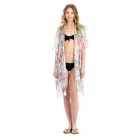 LOF818 Flower Print Cover-up, Pink