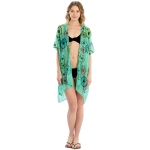 LOF825 Embroidery Flower Cover-up, Mint
