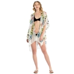 LOF825 Embroidery Flower Cover-up, White