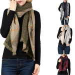 LOF523 REVERSIBLE OBLONG SCARF