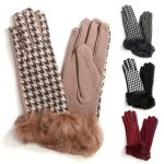 LOG019 HOUNDSTOOTH FUR GLOVE