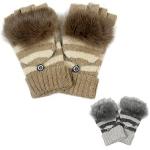 LOG023 Fingerless Real Fur Gloves