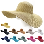 LOH020 Wide Brimmed Solid Floppy Hat