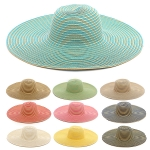 LOH030 Wide Brimmed Stripe Floppy Hat