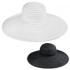 LOH036 Sheer Stripped Floppy Hat