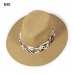 LOH044 Tropical Print Band Panama Hat