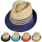 LOH052 Stripped Straw Fedora