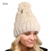 LOH081 Knitted Beanie W/Pom Pom