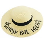 LOH105 Always On Vacay Floppy Hat