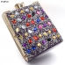 M1801 Multi-Colored Rhinestone Clutch