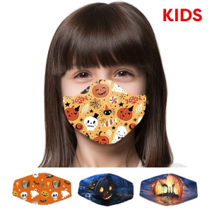 S-104 [KIDS] Halloween Pattern Reusable Mask