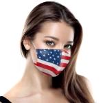 S-65 American Flag Pattern Resuabel Mask - 1DZ