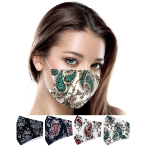 S-66 Multi Color Paisley Pattern Reusable Mask