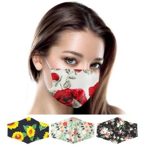 S-67 Multi Floral Pattern Reusable Mask (1DZ)