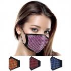 S-81 Solid Color Faux Rhinestone Fashion Mask (1DZ)