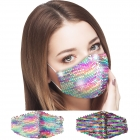S-97 Multi Color Sequin Pattern Reusable Mask (1DZ)