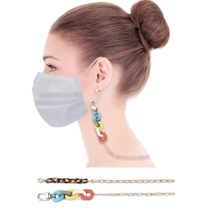MST-12 Thin Gold w/Colorful Chain Mask/Glasses Strap (Dz)