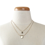 MTN3992 Double Layered Circle Necklace