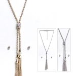 NS3714 TASSLE NECKLACE SET