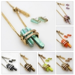 NS3958 DOUBLE QUARTZ W/TASSEL CHARM SET