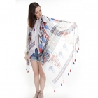 OC1079 Colorful Tribal Print Scarf