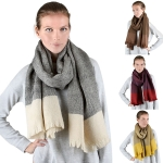OS1009 Multi Gheck Oversized Scarf